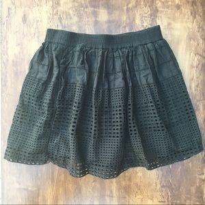 Madewell Beachhouse Eyelet Black Skirt Pockets XS
